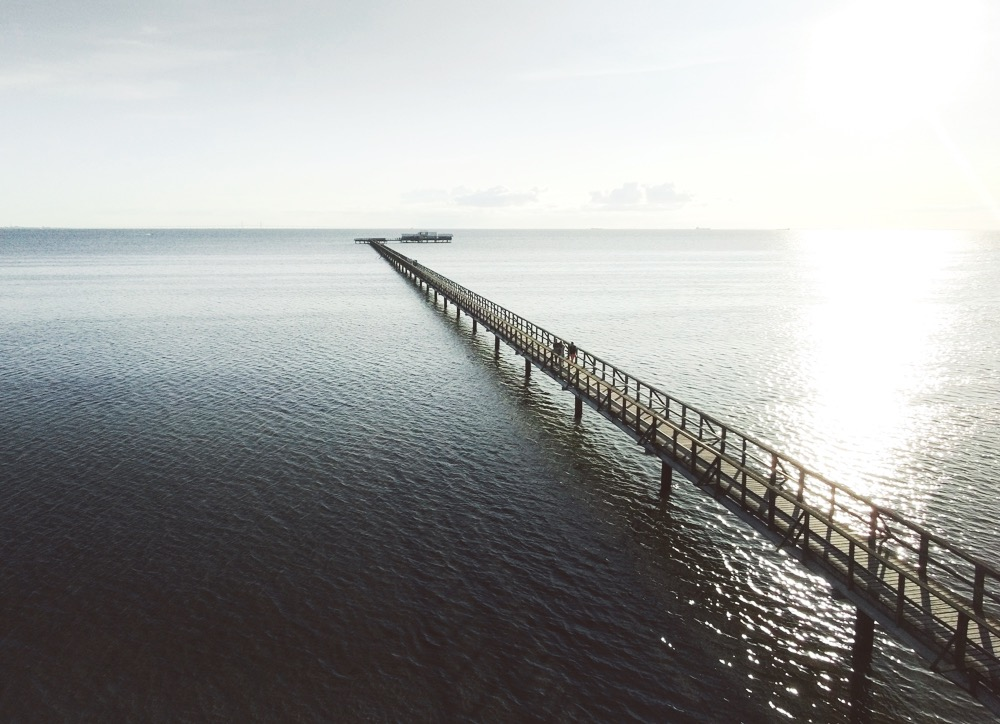 To capture its sheer size, I took the opportunity to use my drone. From a higher vantage point, you can really see just how long the pier actually is.