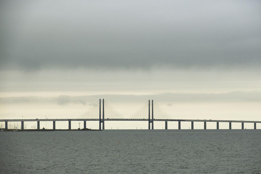 The spectacular Öresund bridge from Denmark to Sweden.
