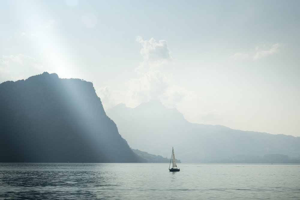 A dreamy start of my trip on Lake Lucerne.
