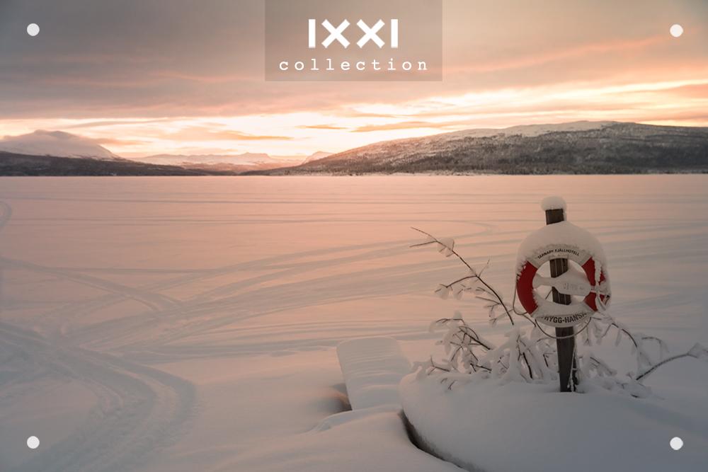 Sweden, Hemavan - Snowy Lake