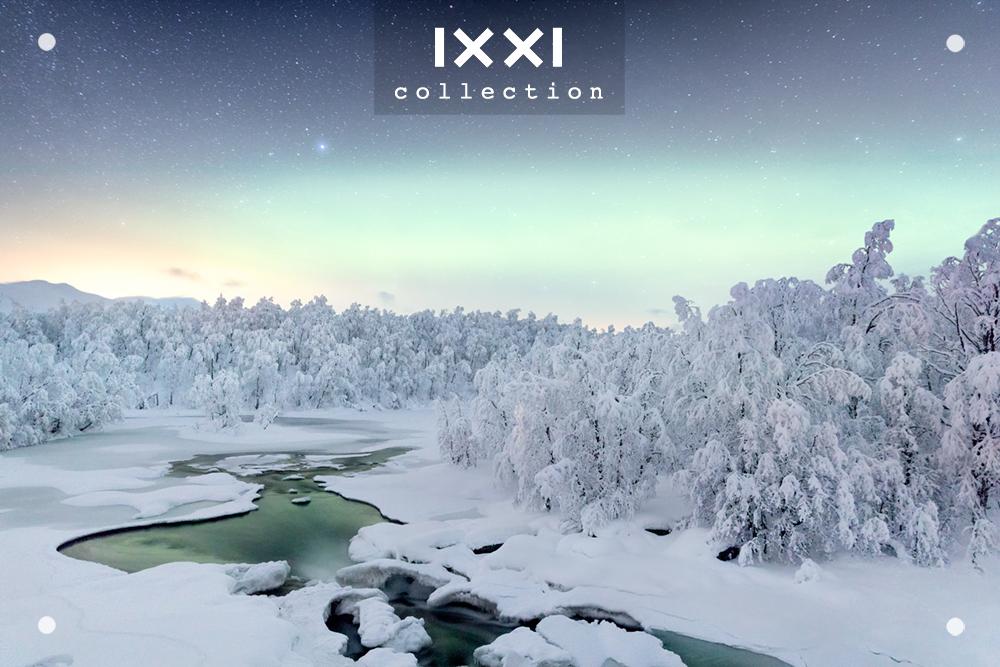 Sweden, Lapland - Northernlights River