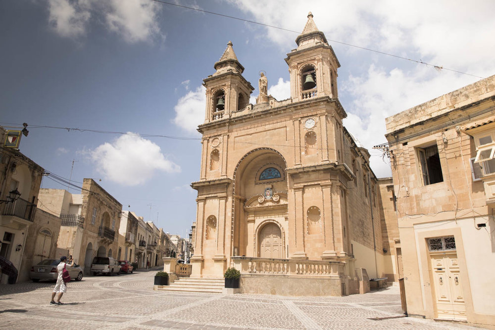 The Parish Church of Marsaxlokk. It was built in 1897 and dedicated to the Lady of Pompei