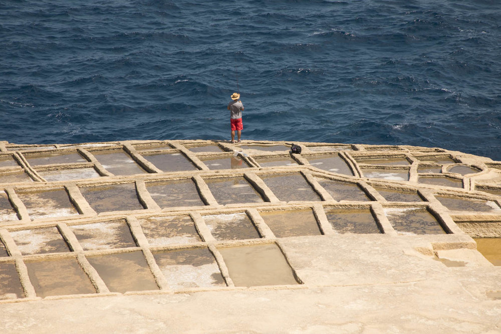 The impressive Xwejni Salt Pans stretch for around 3 kilometres along the coast and are around 350 years old