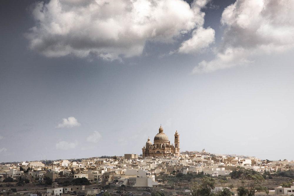 Rotunda church in Xewkija, which is the oldest village of Gozo.