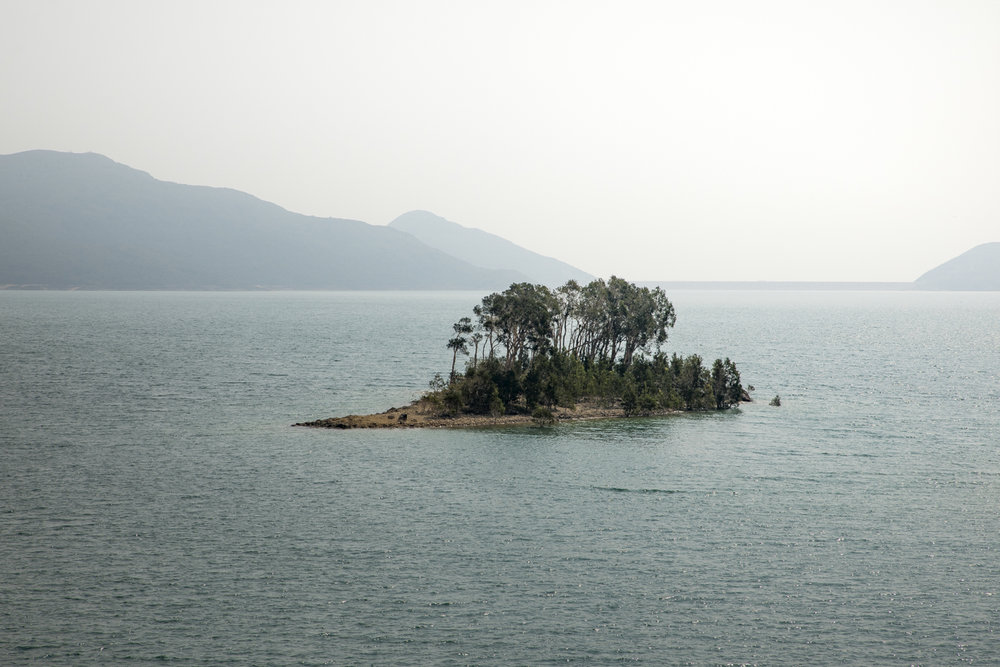 A tiny island in the High Island Reservoir in Sai Kung Country Park