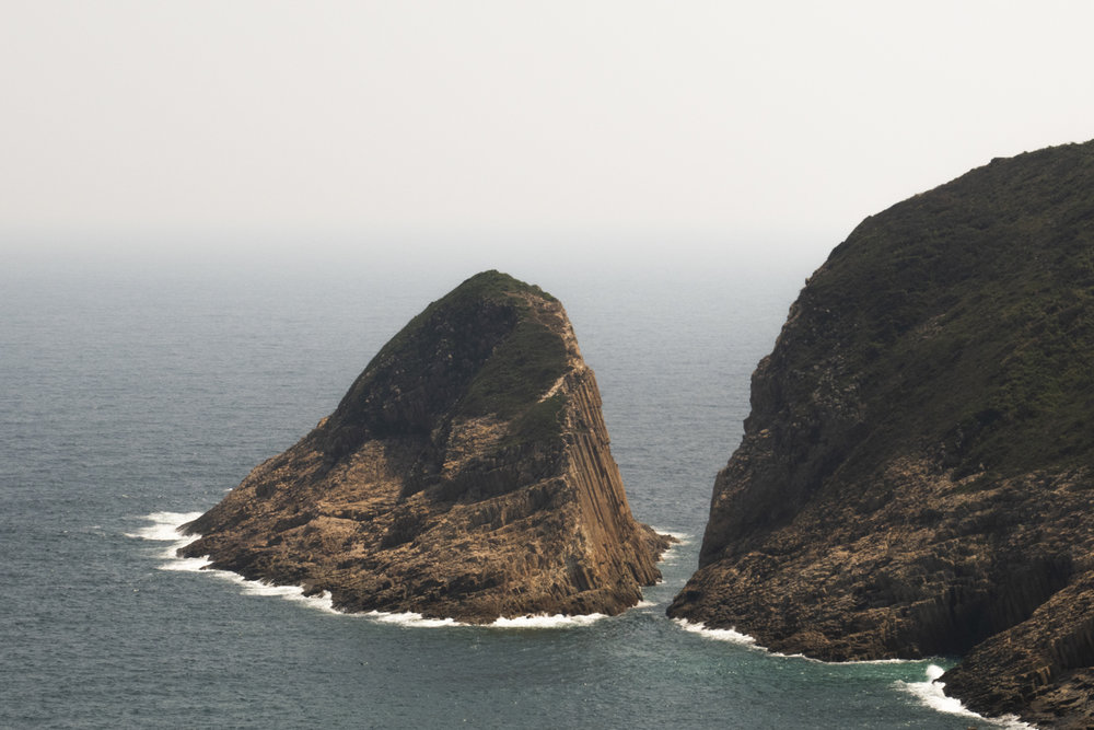 Views on Po Pin Chau. Originally attached to Fa Shan, but when the ridge collapsed from weathering, it became a stand-alone island.