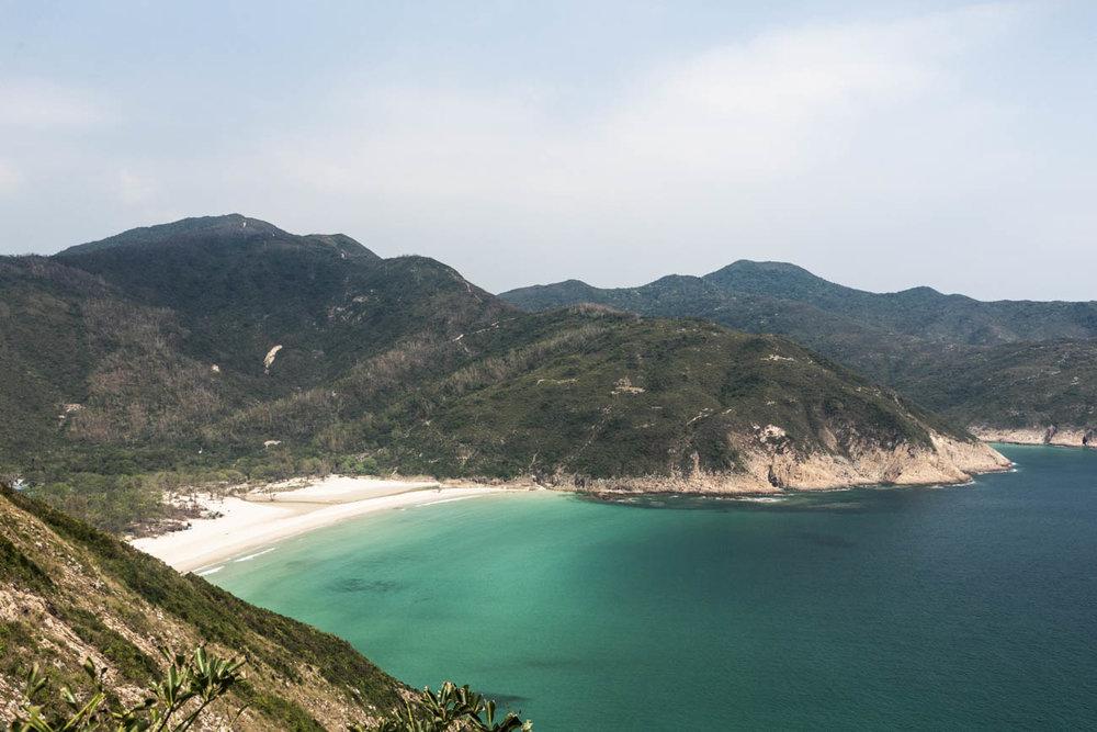 Long Ke Wan beach in Sai Kung, with its crystal clear waters