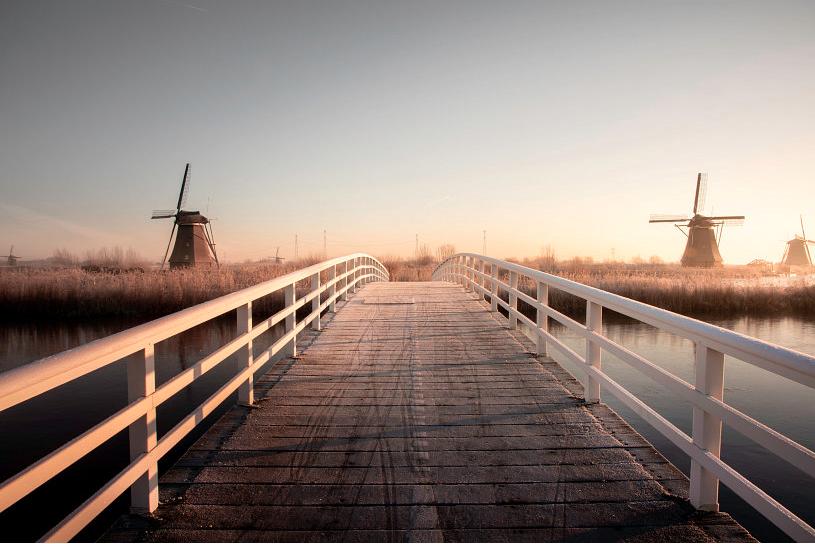 Wintermorning at Kinderdijk