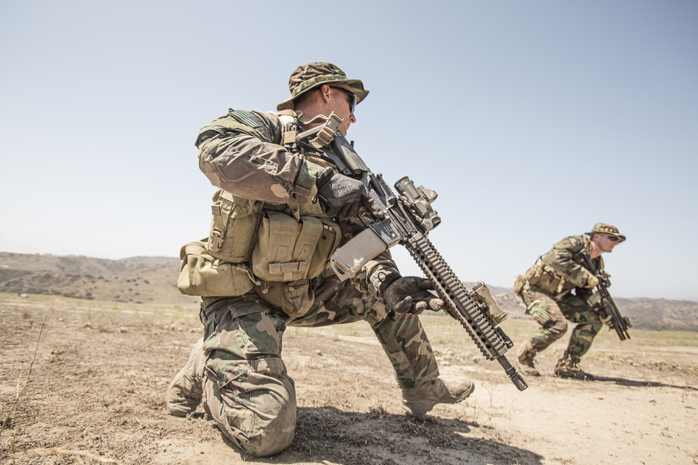 1st Marine Raider Battalion conducts ground training at Camp Pendleton. August, 1015. Photo by Vance Jacobs.