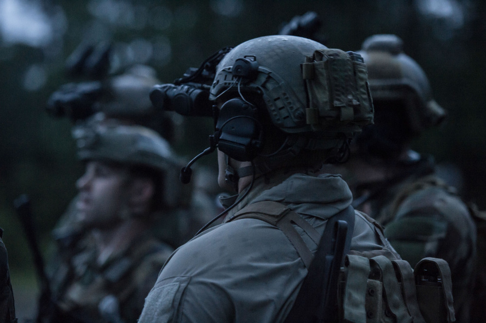 Marine Raiders conduct simulated partner nation training at pre-deployment exercise RAVEN in Mississippi, Louisiana, Alabama on May 15, 2015.