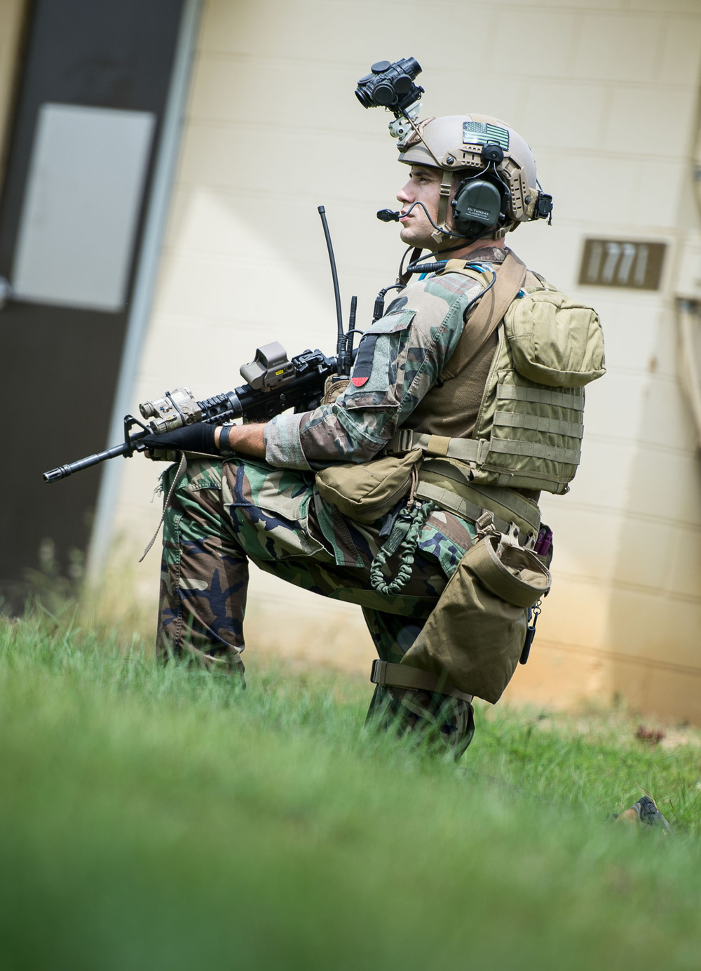Marine Raiders conduct simulated partner nation training at pre-deployment exercise RAVEN in Mississippi, Louisiana, Alabama on May 16, 2015.
