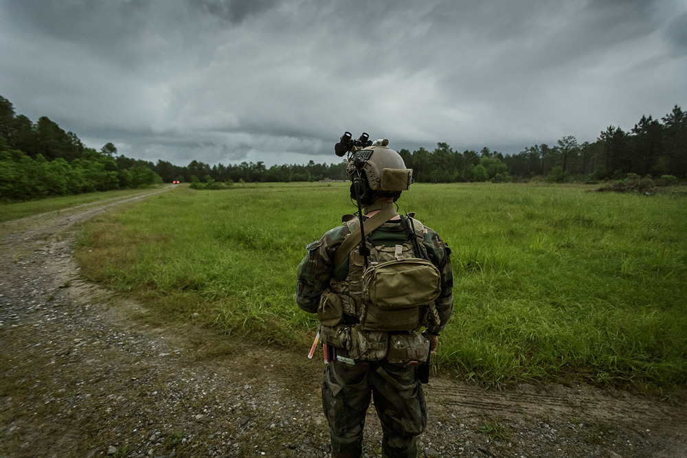 Marine Raiders conduct simulated partner nation training at pre-deployment exercise RAVEN in Mississippi, Louisiana, Alabama on May 15, 2015. © Vance Jacobs / USMC 2015