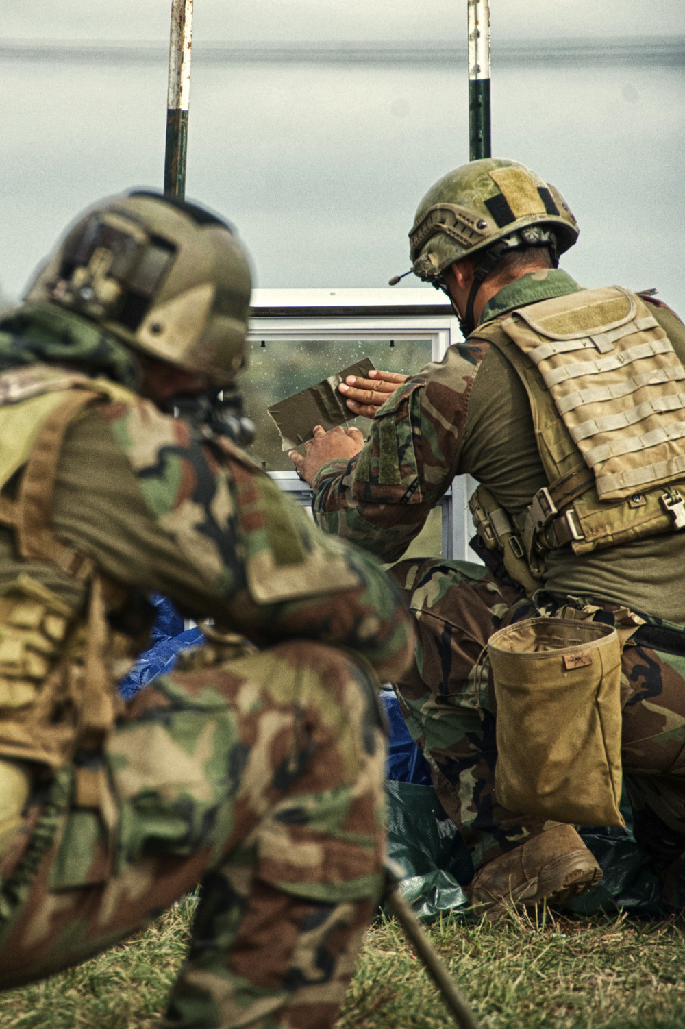 Members of MARSOC attend the Advanced Sniper Training Course near Jacksboro, TX on October 30, 2013. Photo by Catherine Deran