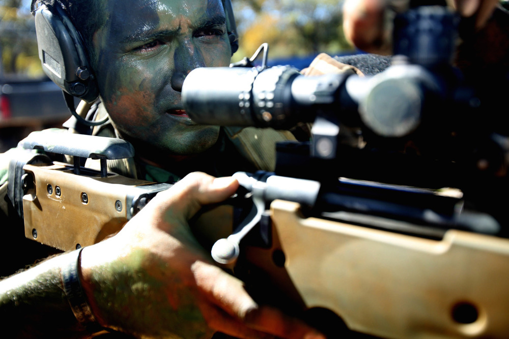 Members of MARSOC attend an Advance Sniper Training Course in Jacksboro, TX on October 31, 2013. Photo by Vance Jacobs