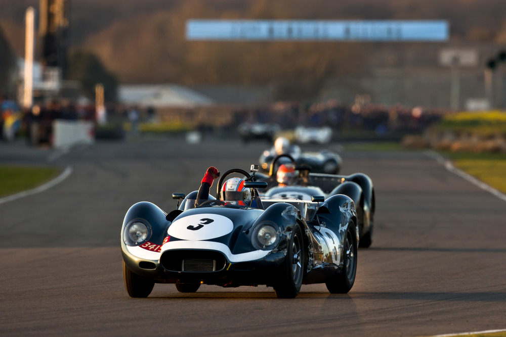 Sam Hancock wins the Salvadori Cup in a Lister Knobbly prepared by Sam Thomas Racing (image: Drew Gibson).