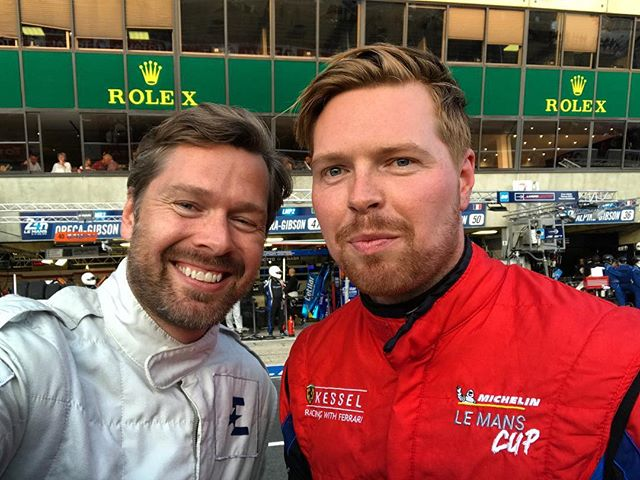 Great to be with the bro in Le Mans pitlane - me on TV duties, him on driving duty. He did a cracking job in the Road to Le Mans support race earlier. Hope we get to do the big race together one day! @olliehancock44 #LM24 #24LM #lemans24
