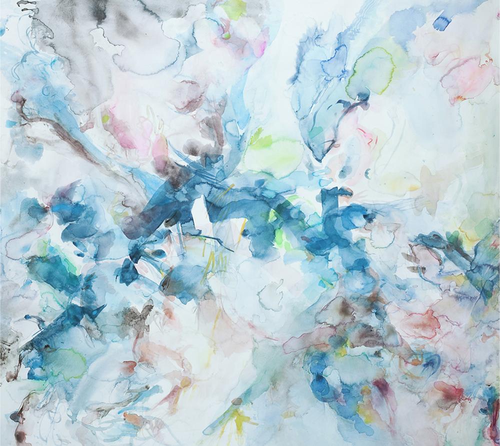 """All Souls. Watercolor. 51"""" x 47"""""""
