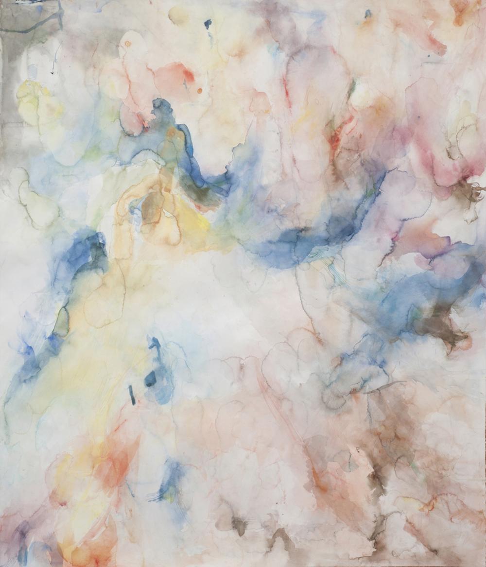 "Snake Oil. Watercolor. 56"" w x 65"" h"