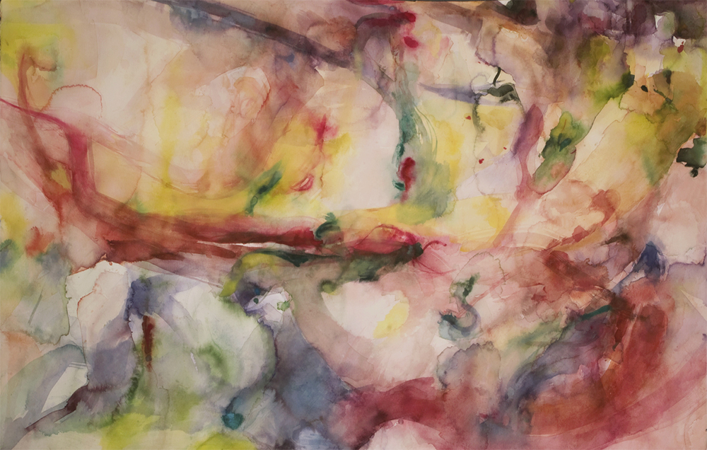 "In. Watercolor. 51"" w x 33"" h"