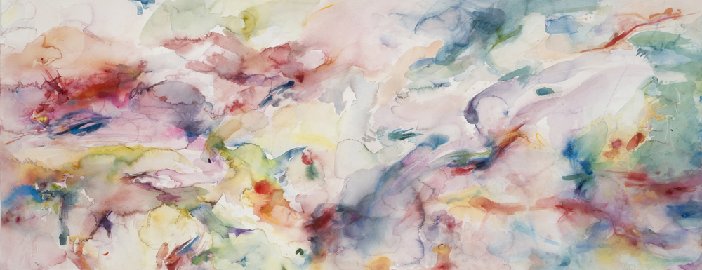"Carpet. Watercolor. 70"" w x 28"" h"