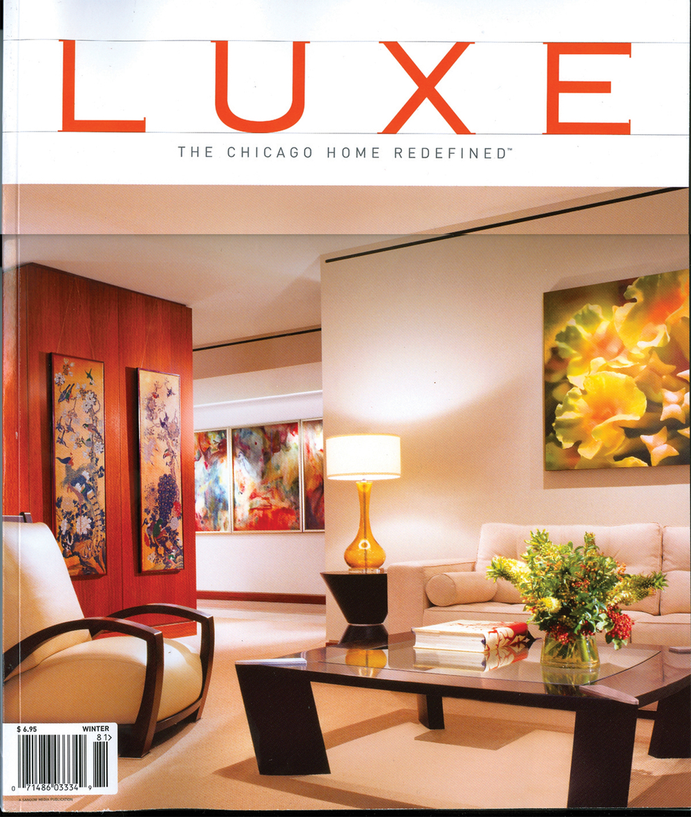 LUXE Magazine cover. First Chicago issue