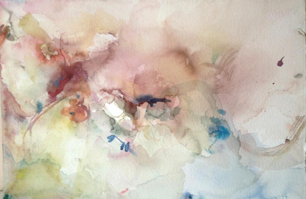 """Moxie. Watercolor. 15"""" w x 10"""" h"""