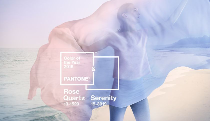 Pantone color of the year 2016 - Rose Quartz & Senerity