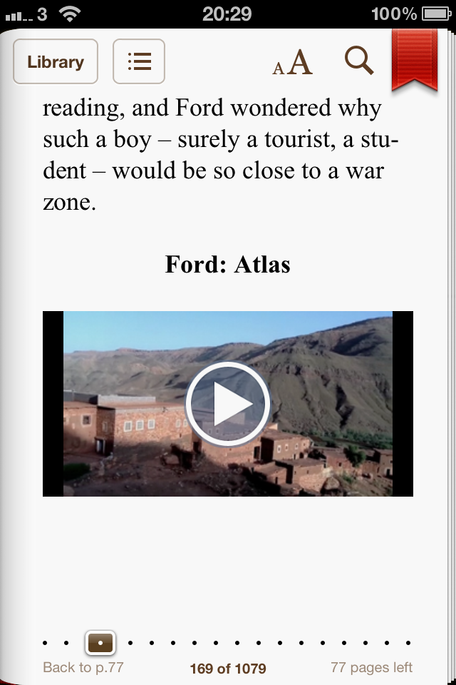 A screenshot of Sutler as it appears on an iPhone. This page has a video embedded in it.