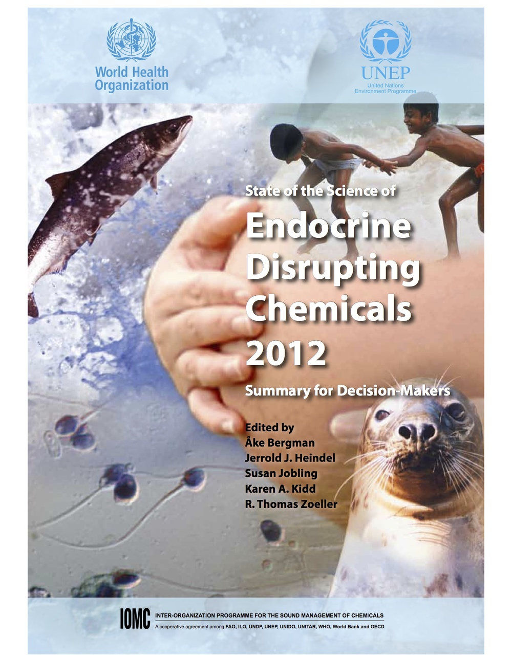 "The cover of the WHO-UNEP report, "" State of the Science of Endocrine Disrupting Chemicals 2012 ""."
