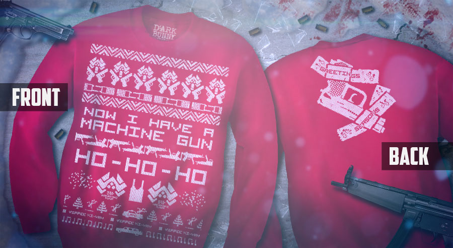 The Die Hard Christmas Jumper from Dark Bunny Tees. Strictly Limited Edition