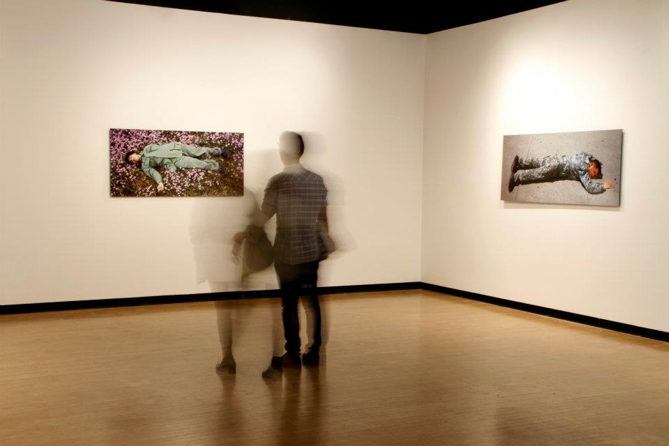 Installation view of The Fallen at Werby Gallery, CSULB