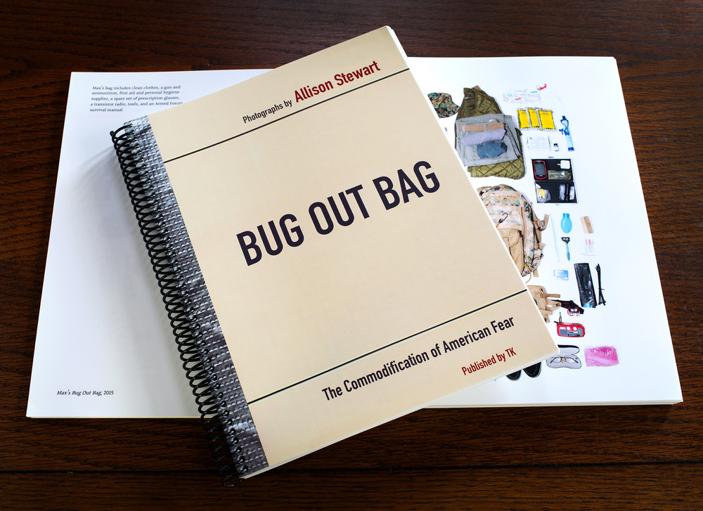 Bug Out Bag: The Commodification of American Fear - A self-published prototype book. Edition of 10.