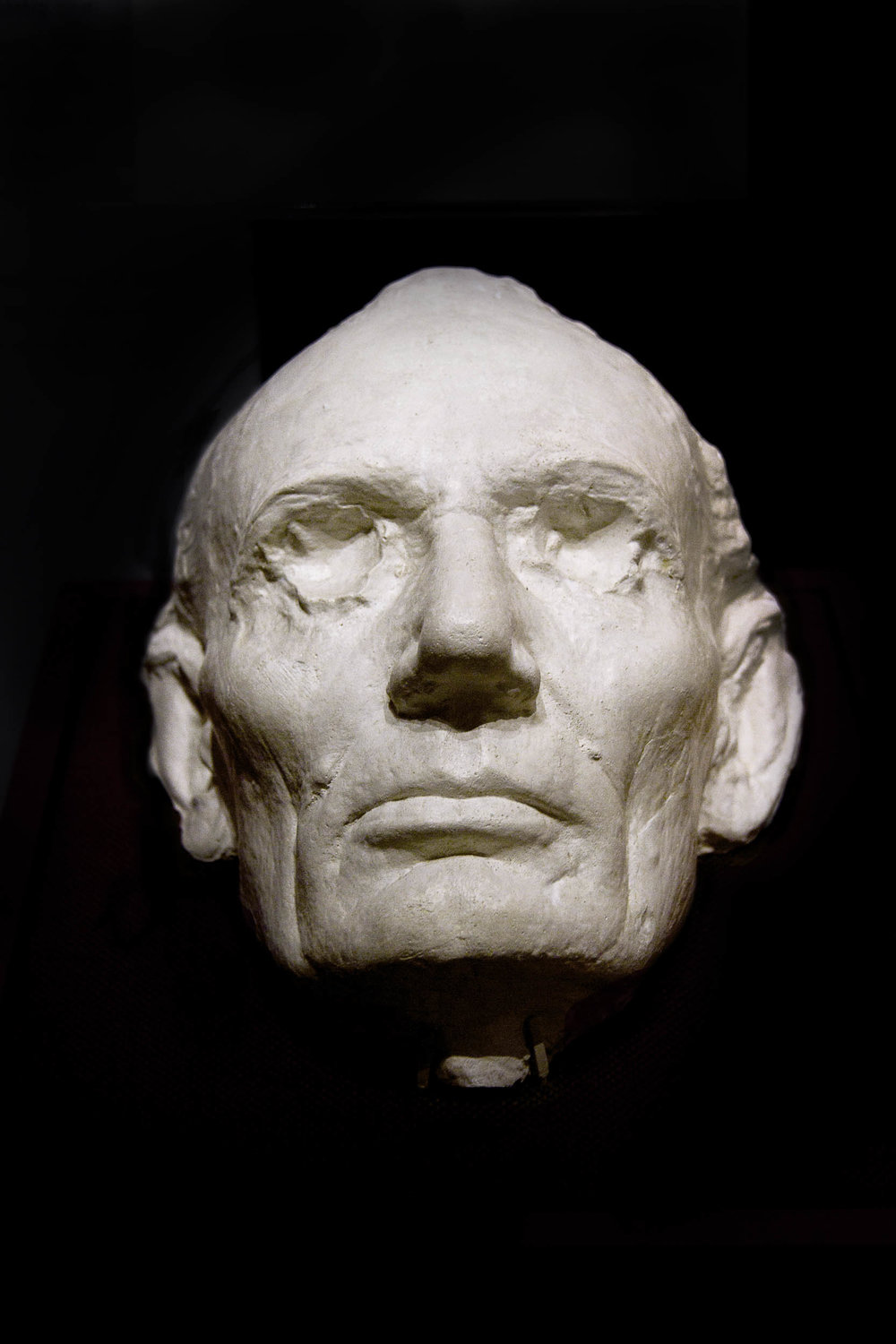 Lincoln's Life Mask 1860, Gettysburg Museum, Pennsylvania