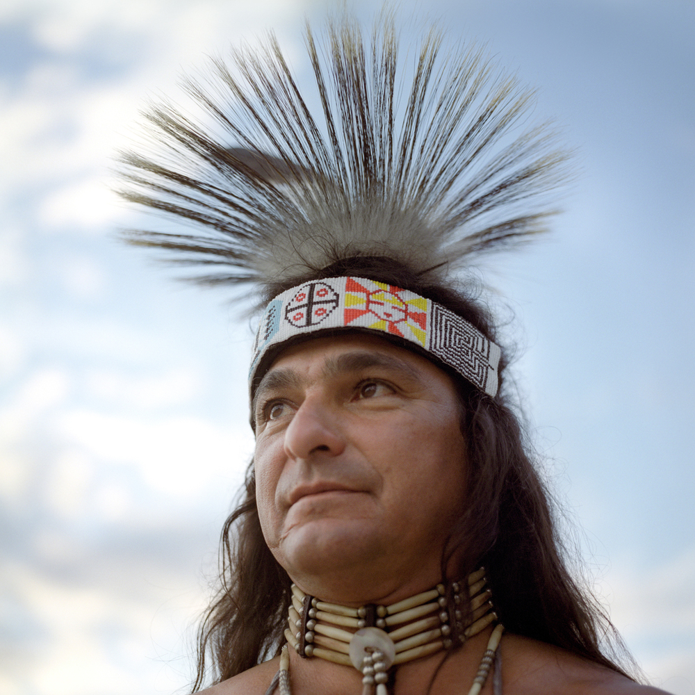 native american portrait medium format film pow wow