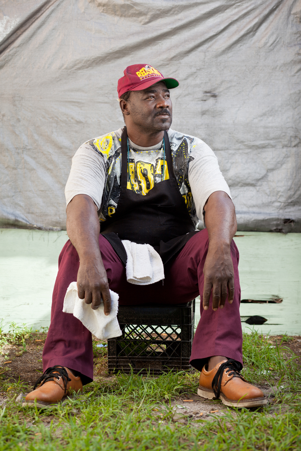 male african american chef cook portrait pride