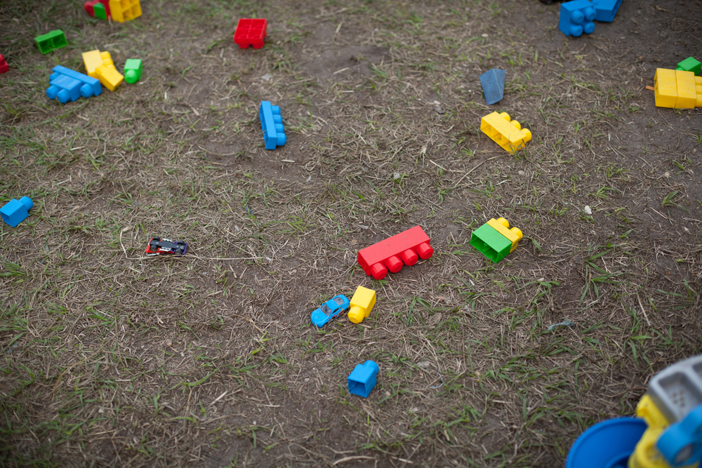 legos ground dirt sand grass