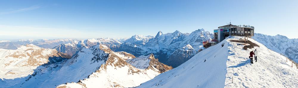 schilthorn restaurant switzerland snow mountains