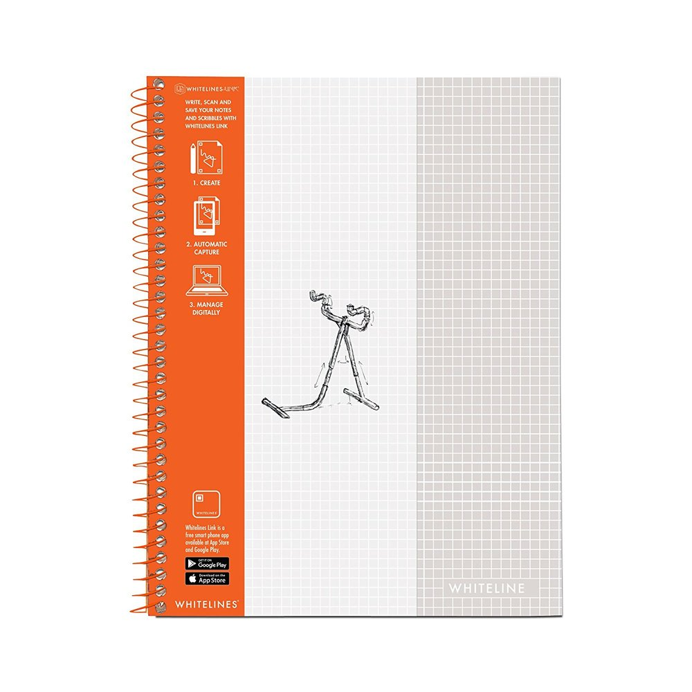 WhiteLines Graph Paper Notebook