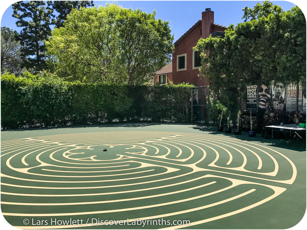 Tennis Court Labyrinth