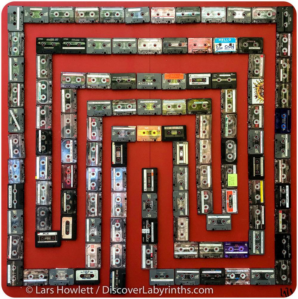 Cassette Tape Labyrinth