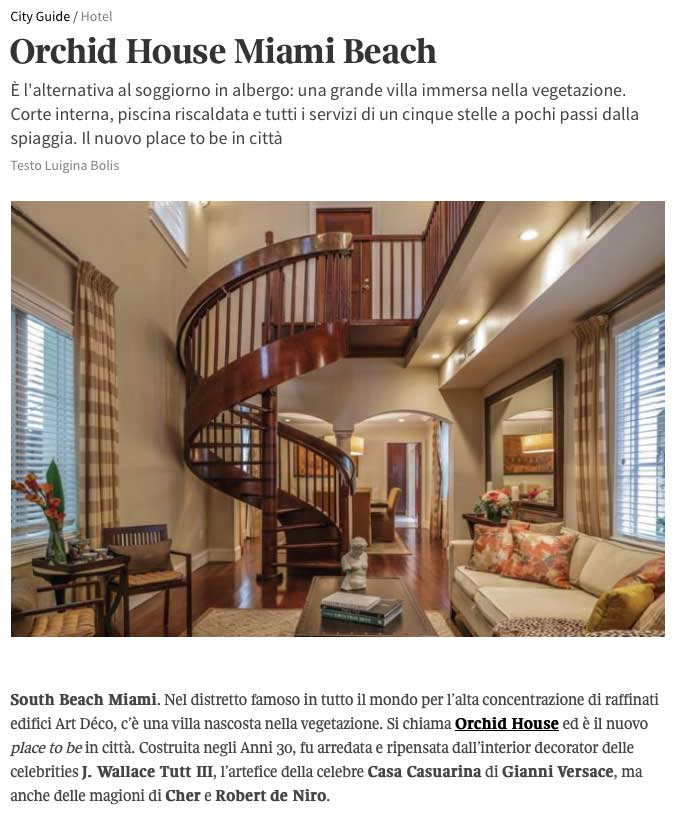 MB America\'s Orchid House on Living Corriere — MB America