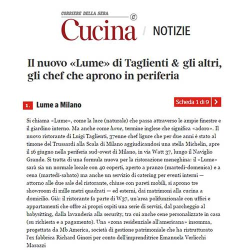 "<p><strong>CUCINA CORRIERE</strong><a href=""/s/100616-CUCINACORRIEREIT.pdf"" target=""_blank"">Download Article →</a></p>"