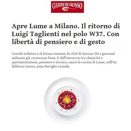 "<p><strong>GAMBERO ROSSO</strong><a href=""/s/240616-LASTAMPAIT.pdf"" target=""_blank"">Download Article →</a></p>"