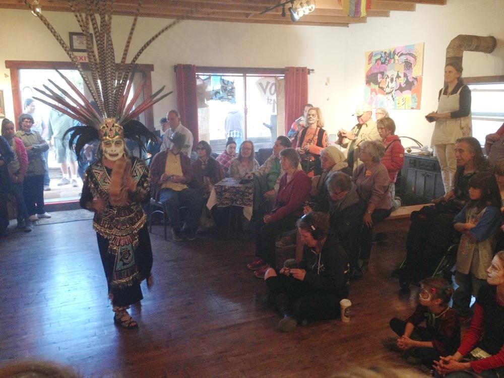 Aztec Dancers at Dia de los Muertos