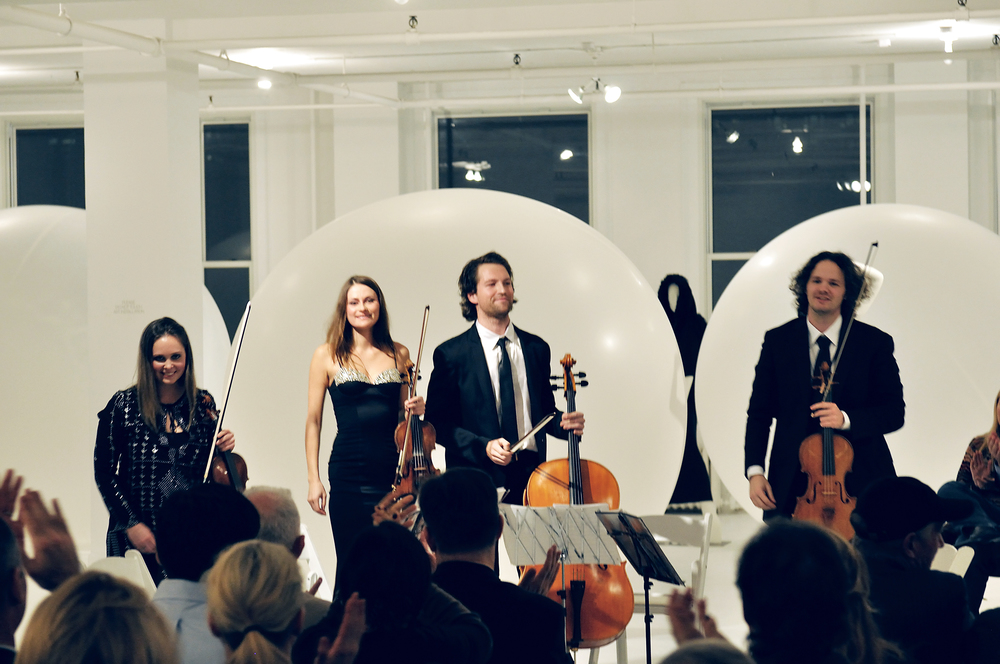 Voxare String Quartet at Ralph Pucci Gallery