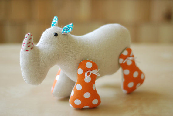 Eleanor Rhino by laurastantz.etsy.com