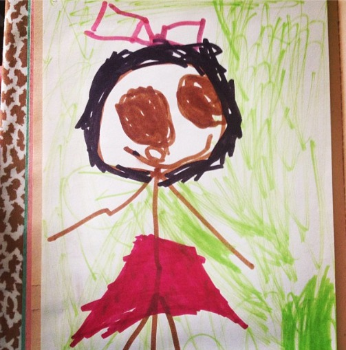 Self-Portrait, age 4
