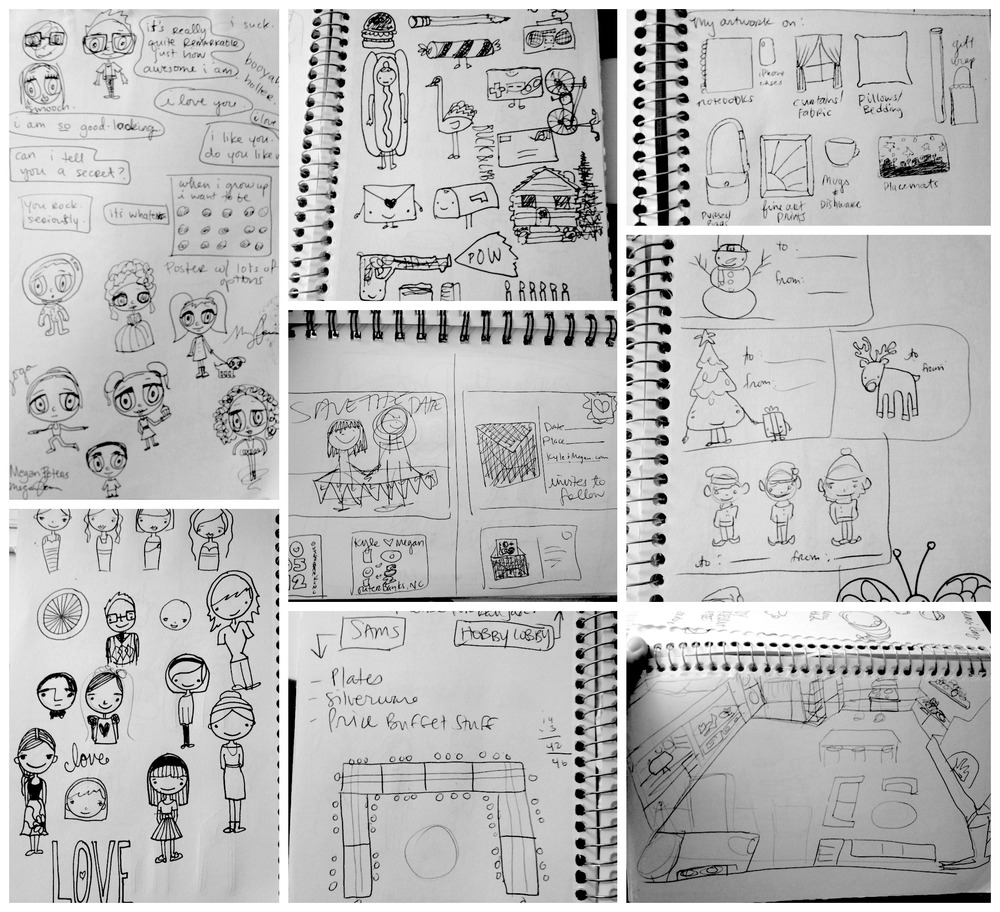 Pages of my sketchbook.