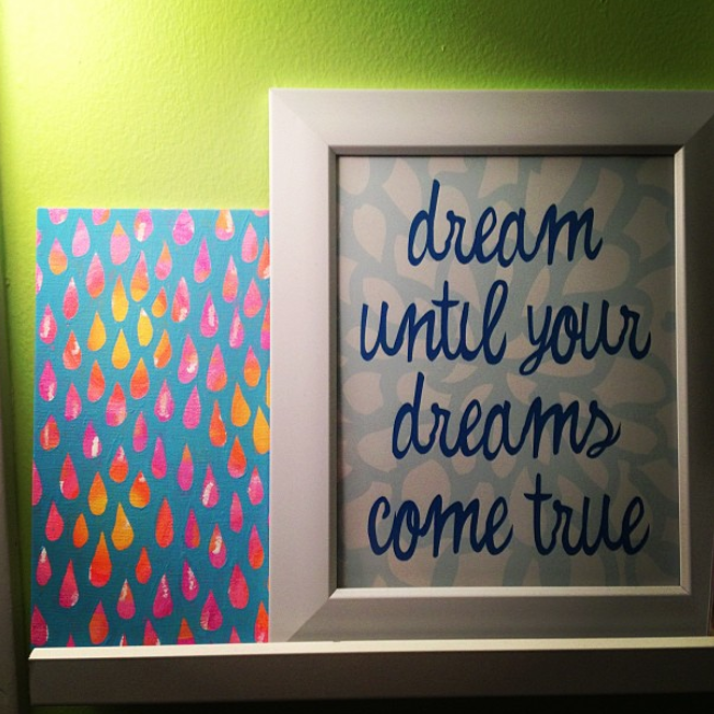 """Dream Until..."" print by  letterhappy.etsy.com"
