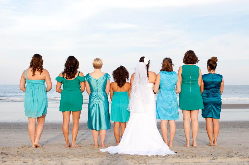 Beach Wedding Bridesmaids Teal